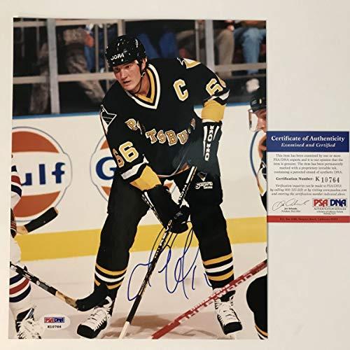 Autographed/Signed Mario Lemieux Pittsburgh Penguins 8x10 Hockey Photo PSA/DNA COA ()