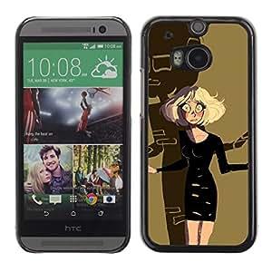 Be Good Phone Accessory // Dura Cáscara cubierta Protectora Caso Carcasa Funda de Protección para HTC One M8 // blonde Halloween scary cartoon character