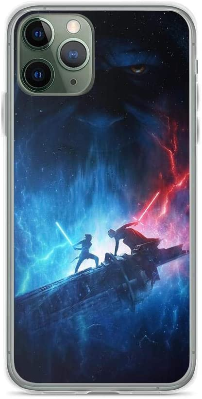 Amazon Com Teemt Compatible With Iphone 11 Case Stars Wars Rey Vs Kylo Ren Rise Of Skywalker Galaxy Fantasy Movie Pure Clear Phone Cases Cover Electronics