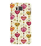 ASSORTED HEART SHAPED WIND CHYMES 3D Hard Polycarbonate Designer Back Case Cover for Samsung Galaxy Alpha G850