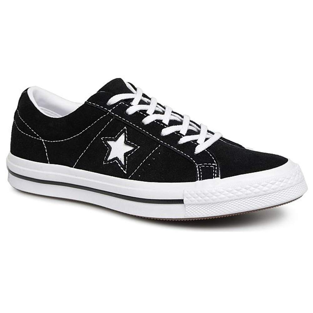 Converse Kids One Star Ox Black/White/White Casual Shoe 5 Kids US