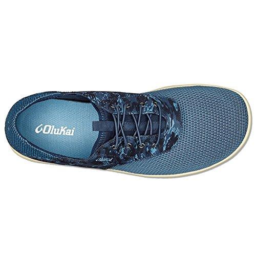 OluKai, Scarpe stringate uomo Trench Blue/Dive Camo