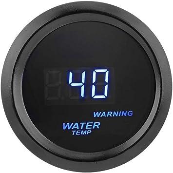 Mintice/™ 2 52mm Black Car Motor Digital Blue LED Light Water Temp Fahrenheit F LED Gauge
