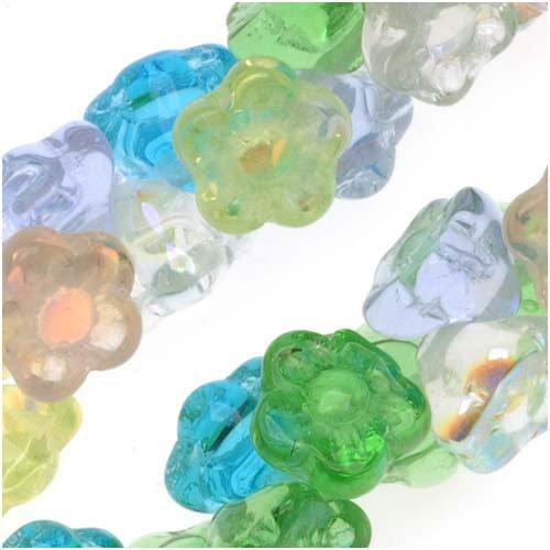 Czech Glass Flower Drops