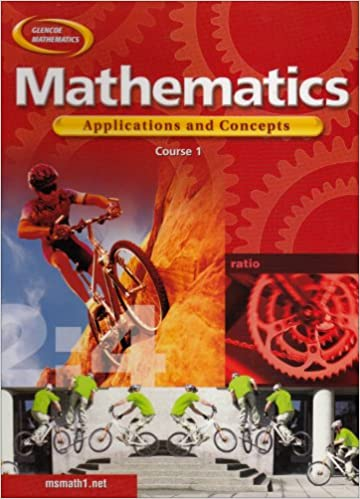 Amazon mathematics applications and concepts course 1 mathematics applications and concepts course 1 student edition 1st edition fandeluxe Choice Image