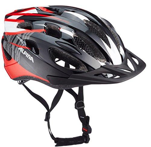 Alpina Bike Helmet Mountain Bike 14 Multi-Coloured Black/Red/White Size:54-58 (Alpine Womens Bike)
