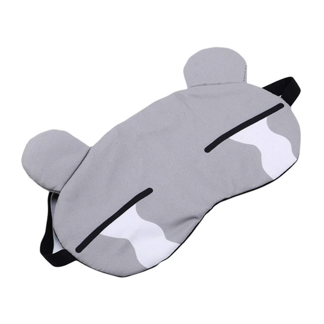 LZIYAN Sleep Masks Cartoon Sleep Eye Mask Soft Cute Eyeshade Eyepatch Travel Sleeping Blindfold Nap Cover,Gray by LZIYAN (Image #2)