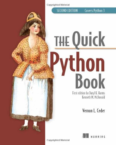 Book cover of The Quick Python Book, Second Edition by Vernon L. Ceder