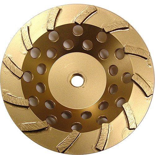 (Diamond Products Core Cut 16410 7-Inch by 5/8-Inch 11 Standard Gold Spiral Turbo Cup Grinders with 12 Segments)