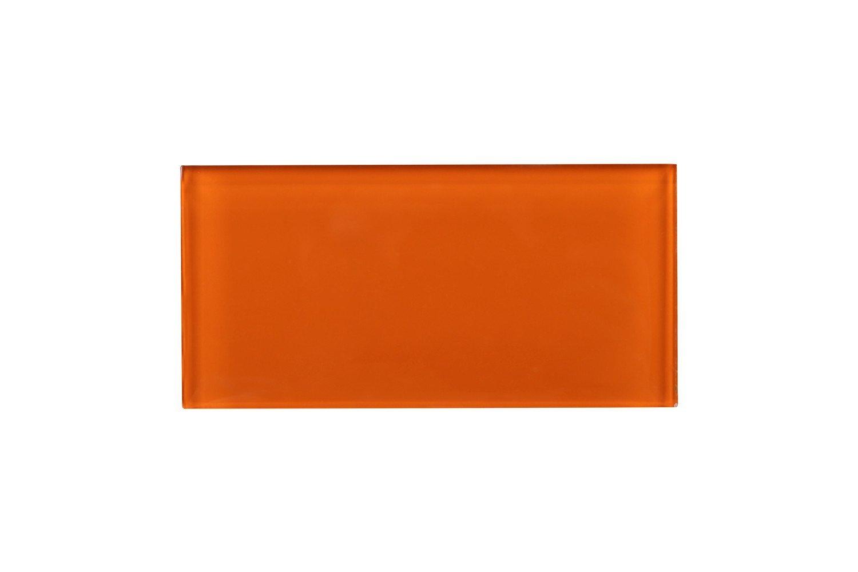 Not specific Tile Generation TCSAG-11 3x6 Orange Glass Subway Tile -Kitchen and Bath Backsplash Wall Tile