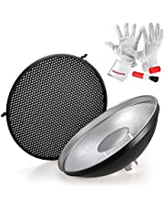 Godox AD-S3 Beauty Dish Reflector with Honeycomb Cover for Godox Witstro AD200 Pocket Flash Godox AD180 AD360 AD360II Flash Speedlite - Including PERGEAR Cleaning Kit