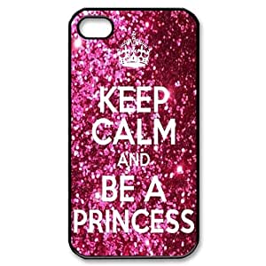 Generic Keep Calm And Be A Princess Theme Hard Snap-on Covers for iPhone 4/4s