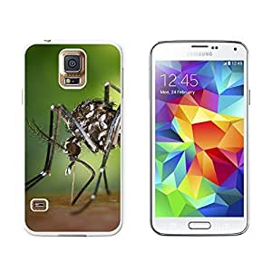 New Style Asian Tiger Mosquito Bug - Snap On Hard Protective Case for Samsung Galaxy S5 - White