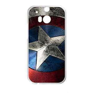 Capital America Pattern Fashion Comstom Plastic case cover For HTC One M8