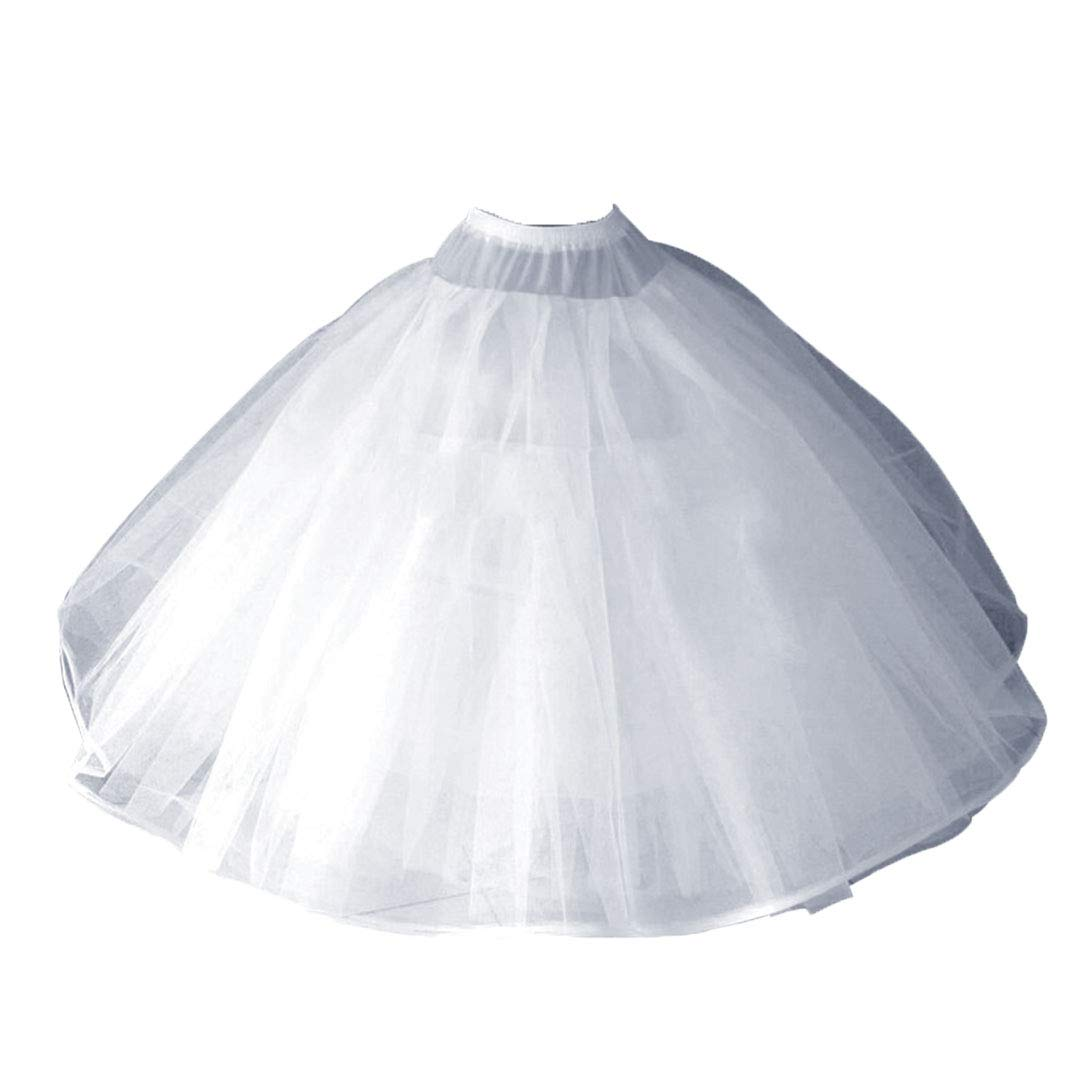 A-Line Hoopless Petticoat Crinoline Underskirt Slip for A-Line Ball Gown Wedding Dress(8 Layers)