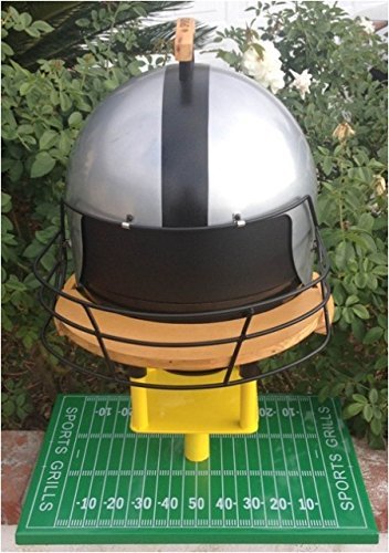 Sports Grills Touch Down 3000 Portable Charcoal BBQ44; Silver & Black by Sports Grills