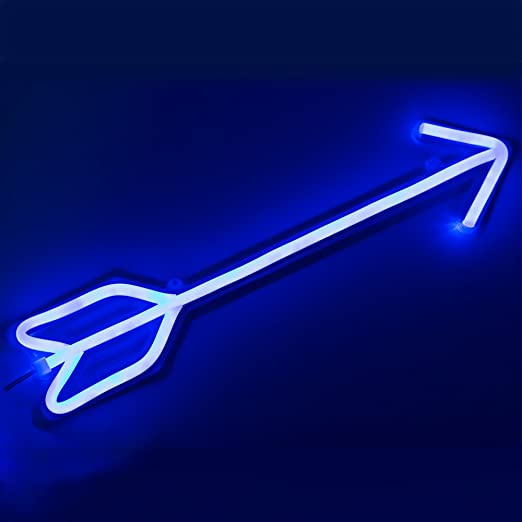 Blue arrow led neon sign wall neon light wall light 44cm x 102cm blue arrow led neon sign wall neon light wall light 44cm x 102cm aloadofball Images