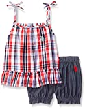 U.S. Polo Assn. Girls' Fashion Top and Short Set