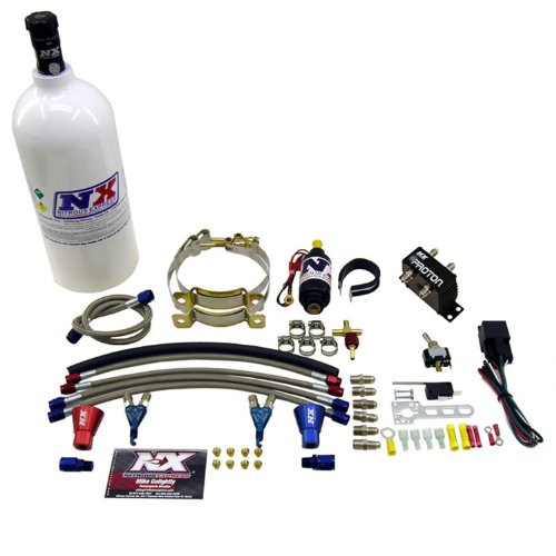 Nitrous Express 61026-2.5P Proton Direct Port Nitrous System For Carbureted 2 Cylinder Engines 20-50 HP w/2.5 lb. Bottle Motorcycle Proton Direct Port Nitrous System Direct Port Nitrous System