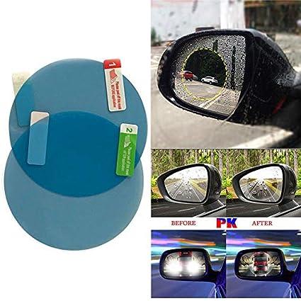 Domeilleur 2 St/ück//Set Antibeschlag-Autospiegel-Fenster Klarfolie Auto R/ückfahr-Schutzfolie wasserdicht Oval