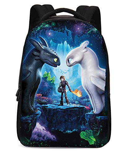 How to Train Your Dragon Backpack Hiccup Cosplay Bag Waterproof Schoolbag for Men Boys D002-TY01-K3B12]()