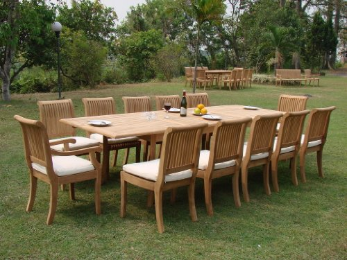 13 Pc Grade-A Teak Wood Dining Set - Very Large 122