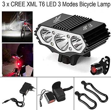 ConstefireFire Linterna LáMPARA para Bicicletas Bici CREE XM-L U2 ...