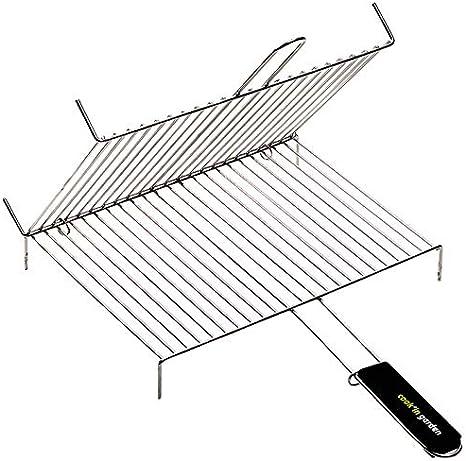 Grille de barbecue double rectangulaire 40 x 30 cm GR025