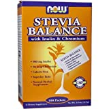 NOW STEVIA BALANCE PACKETS W/ INULIN 100 PACKETS