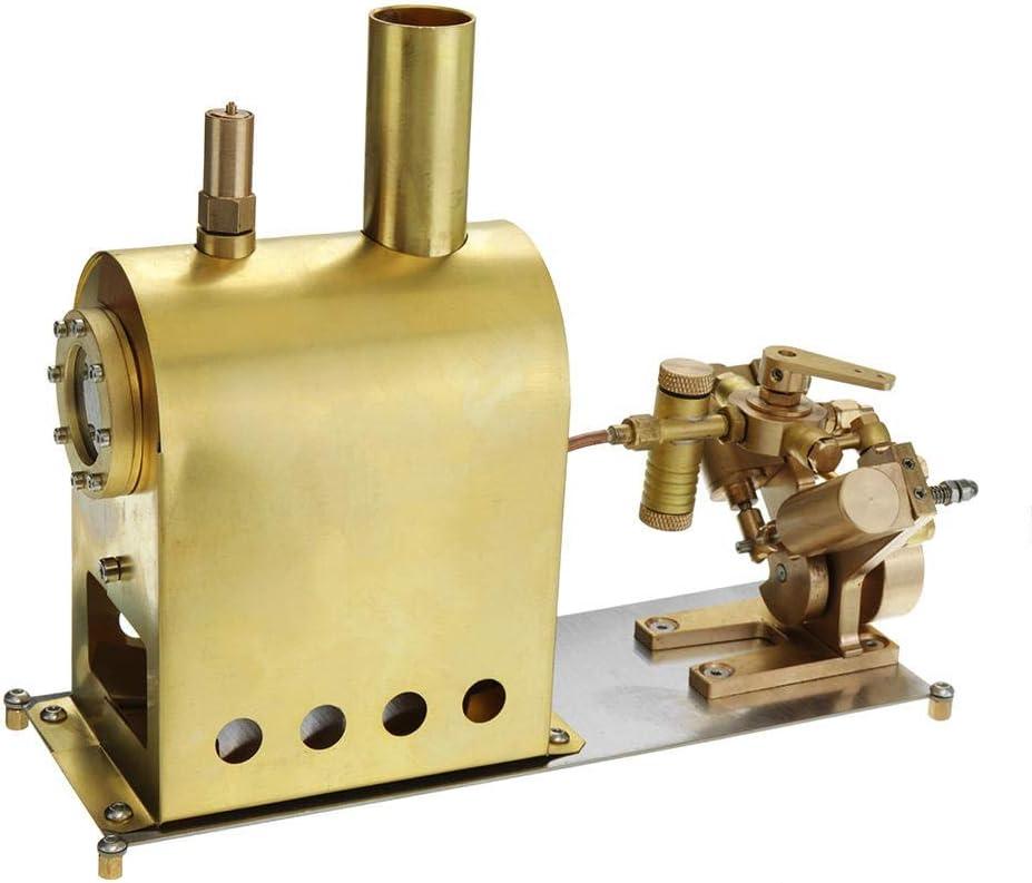 Zengqhui Stirling Motor térmico Motor Stirling Modelo Mini Caldera de Vapor con Vapor Dos Cilindros Marina (Color : Gold, Size : One Size)
