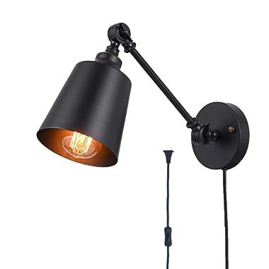 Plug in Wall Lamp HOXIYA Wall Mounted Light Fixture WL1903