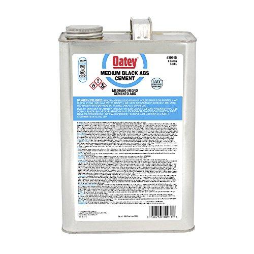 - Oatey 30915 ABS Medium Cement, Gallon, Black