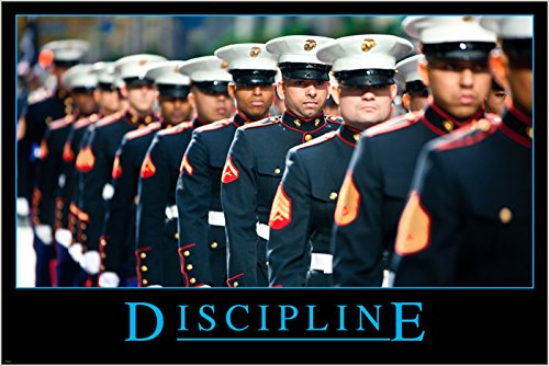 MILITARY UNIFORM motivational/inspirational poster DISCIPLIN