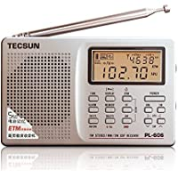 Tecsun PL-606 Digital PLL Portable AM/FM Shortwave Radio with DSP, Silver