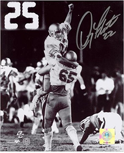Doug Flutie Boston College Eagles 1984 Hail Mary Celebration 8  X 10  Autographed Black And White Photograph   Fanatics Authentic Certified