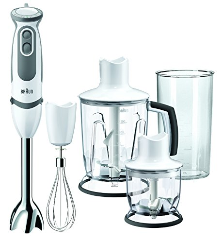 Braun MQ5045 WH Multiquick 5 Vario Hand Blender w/Chopper, 220V (Not for USA-European Cord), Black Braun Kitchen Appliances