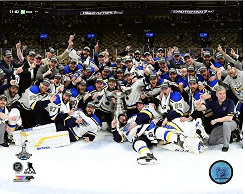 St. Louis Blues 2019 Stanley Cup Champions Team Celebration Photo (Size: 11