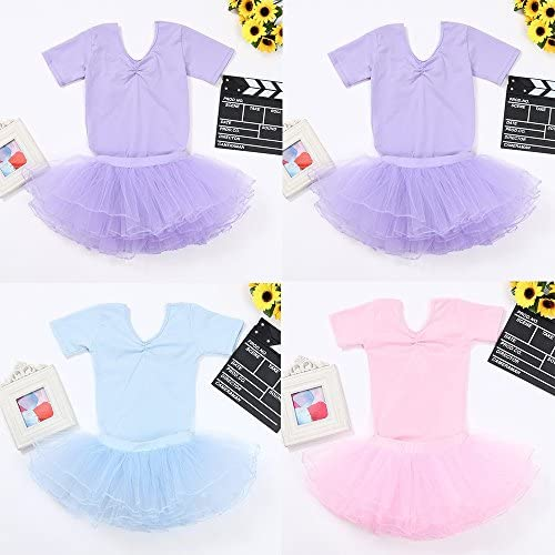 Ballet Dance Tutu Skirt Clothes Outfits for 2-7 Years Old 2PCS Children Kids Girls Romper