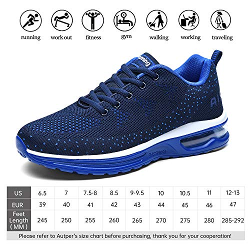 Mens Air Athletic Running Tennis Shoes Lightweight Sport Gym Jogging Walking Sneakers, Size 6.5-12.5