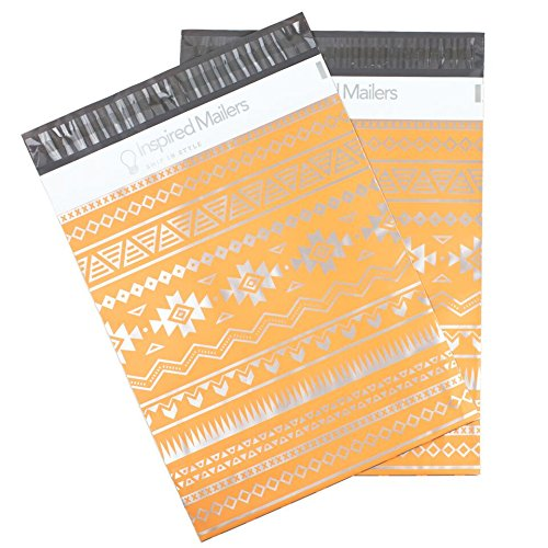 Inspired Mailers Poly Mailers 10x13 Deluxe Southwest Tribal Pattern – Pack of 100 – Unpadded Shipping Bags (Pink/Silver) by Inspired Mailers (Image #8)