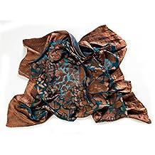 Trovati Copper Petals Silk Viscose Scarf