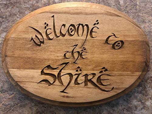 Welcome to the Shire Lord Of the Rings LOTR Decor Sign Wall Plaque JRR Tolkien FREE SHIPPING