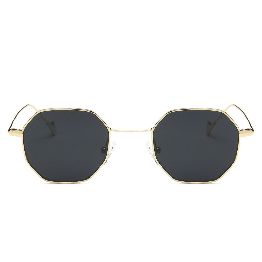 Sunglasses Oversized Hexagon Metal Frame Polarized Vintage Luxury Glasses UV400 Protection Fashion Eyewear