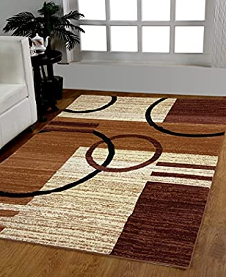 HomeDora Decorative Area Rug Designer's choice Extremely Durable Stain Resistant Smooty Cozy Pet Friendly, Impressed Rich Color