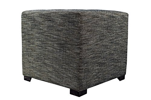 MJL Furniture Designs Upholstered Cubed/Square Lucky Series Ottoman, 17'' x 19'' x 19'', Phantom by MJL Furniture Designs