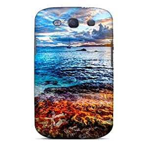 Durable Defender Case For Galaxy S3 Tpu Cover(coastal Sunrise)