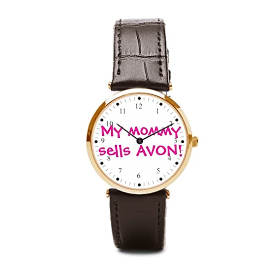 Un ejército mi mamá vende Avon (correa de piel correa de piel puños Avon belleza - correa de piel Para Relojes: Amazon.es: Relojes