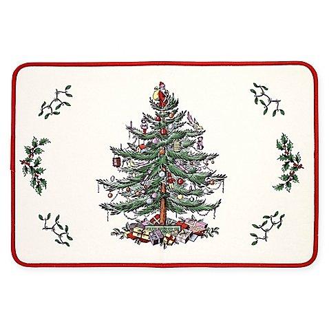 SpodeクリスマスTree by Avanti 20インチx 30インチメモリフォームキッチンマット   B077Q8C51Z