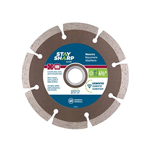 EAB Tool 2118812 4 1/2'' Segmented Bronze Diamond Blade - Recyclable, by EAB Tool