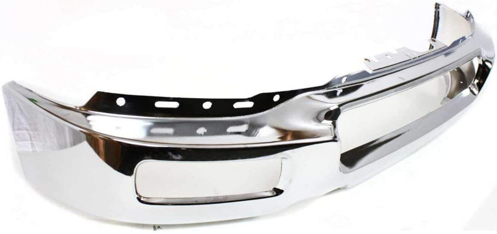 FO1002390 Front Bumper Face Bar for 2004 2005 2006 Ford F150 w//Square Fog Light Holes 04 05 06 Chrome MBI AUTO